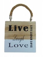 LIVE LAUGH LOVE WOODEN HANGING SIGN.....